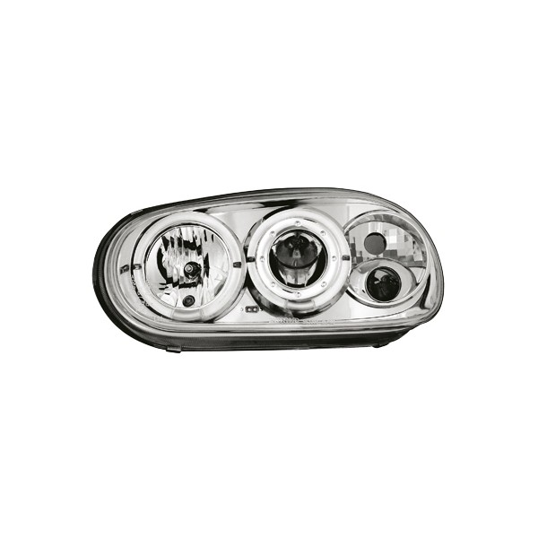Koplampen VW Golf IV Angel Eyes design chroom