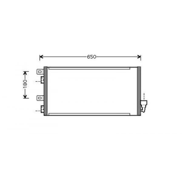 Condensator MINI 03->> 590x317x16 1.4/1.6 16V BENZINE