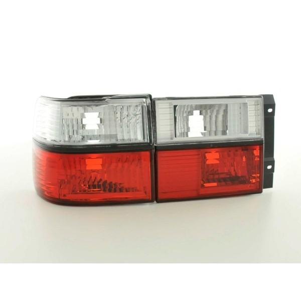 Achterlichten VW Vento chroom rood/wit