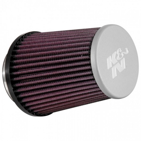 K&N universeel Luchtfilter Conisch 76mm aansluiting + zilveren t
