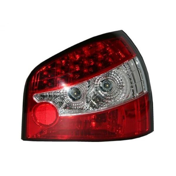 Achterlichten LED Audi A3 8L 96-03 Rood