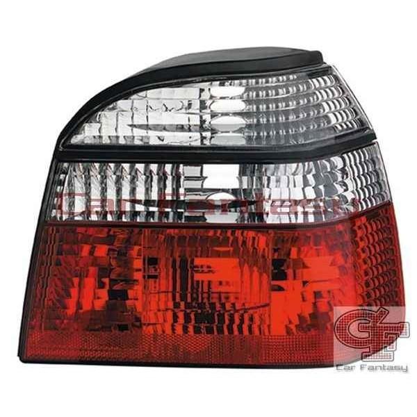 Achterlichten VW Golf III Helder rood/wit
