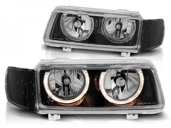 Koplampen VW Passat 35i 93-96 Angel Eyes zwart