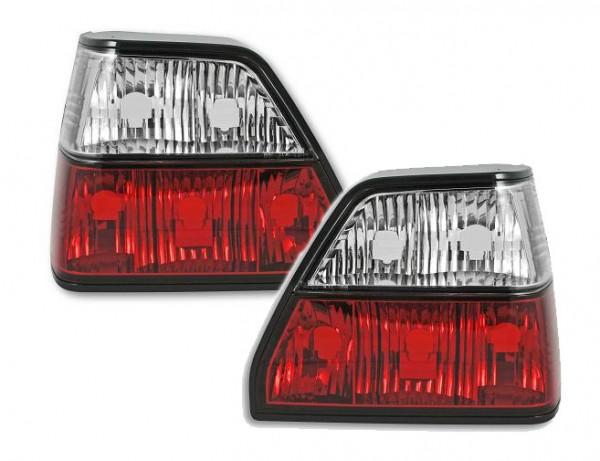 Achterlichten VW Golf II helder rood/wit