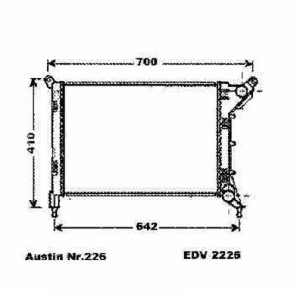 Radiator MINI 01-06 540x357 1.4I 16V/1.6I 16V -AC