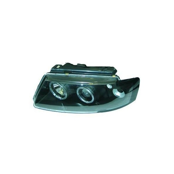 Koplampen VW Passat 3B Angel Eyes Zwart