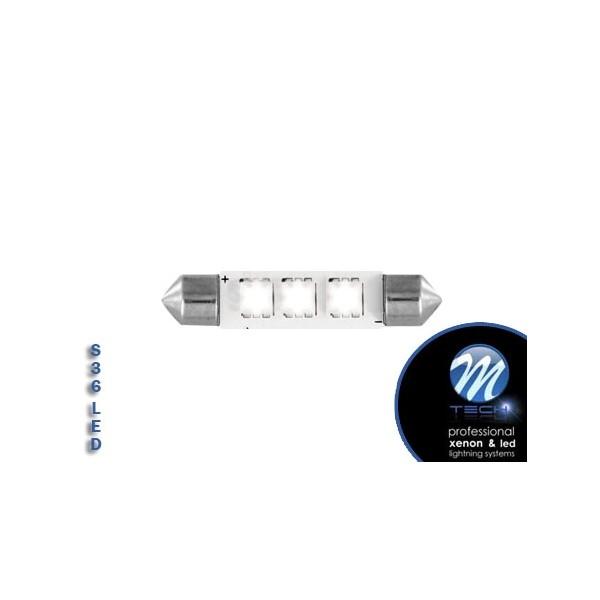 3 SMD High-Power 36mm LED Buislampjes M-tech