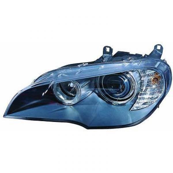 Koplamp links BMW X5 07->> H1+H7