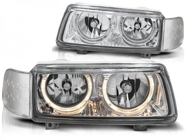Koplampen VW Passat 35i 93-96 Angel Eyes chroom