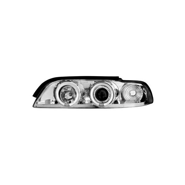 Koplampen BMW E39 Angel Eyes chroom