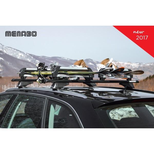 Menabo Silver Ice Ski en Snowboard houder met slot