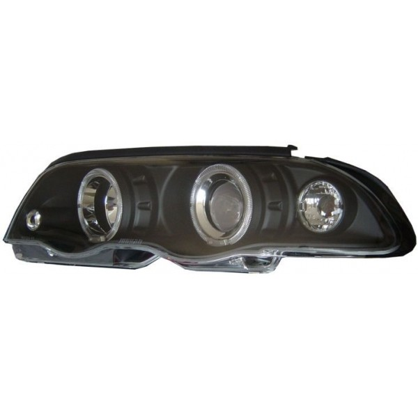 Koplampen BMW E46 sedan 98-01 Angel Eyes zwart
