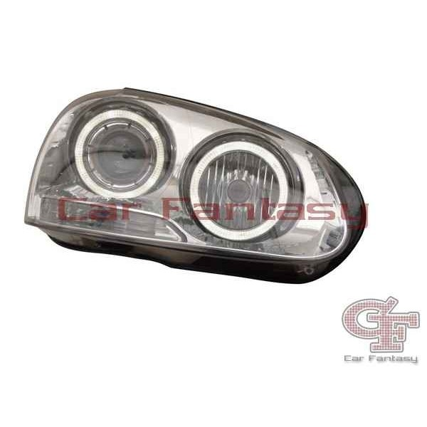 Koplampen VW Golf V Angel Eyes chroom