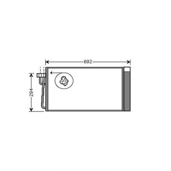 Condensator BMW E60 03->> OOK E65/6601->>. DIESEL MODELLEN