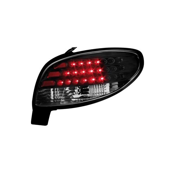 Achterlichten Peugeot 206 LED zwart