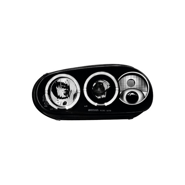 Koplampen VW Golf IV Angel Eyes design zwart