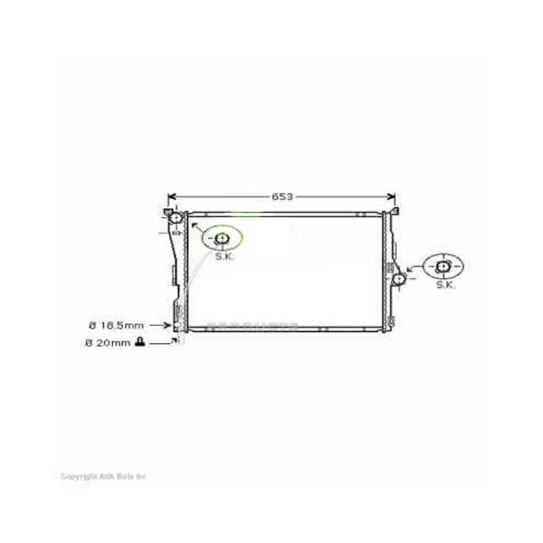 Radiator BMW X3 04->> 580x495x30mm A DIESEL 150 KW