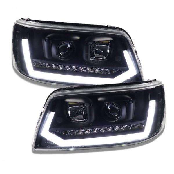 Koplampen VW T5 03-09 Devil Eyes real DRL LED Dynamisch