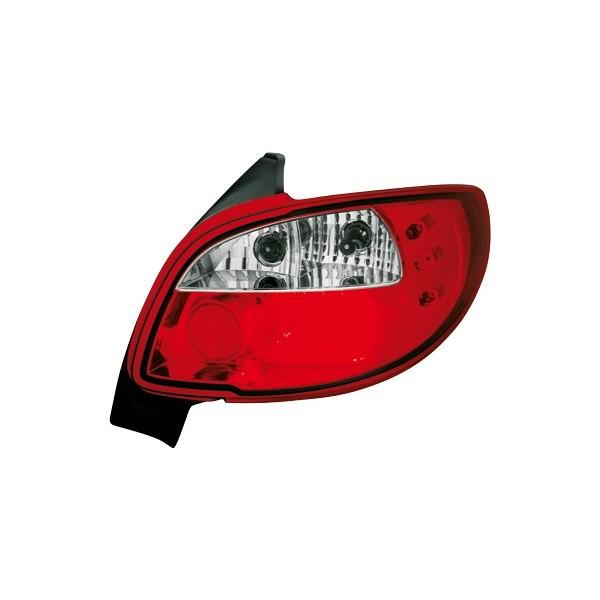 Achterlichten Peugeot 206 LED rood/wit