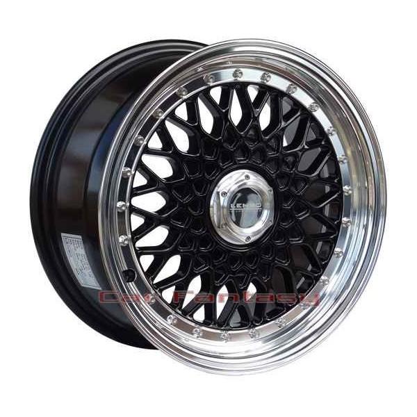 Lenso Wheels BSX 7x15 zwart 4x100 ET20 Velgen