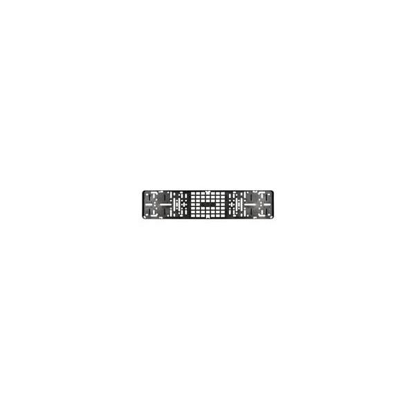 Kentekenplaathouder zwart model click zonder tekstrand