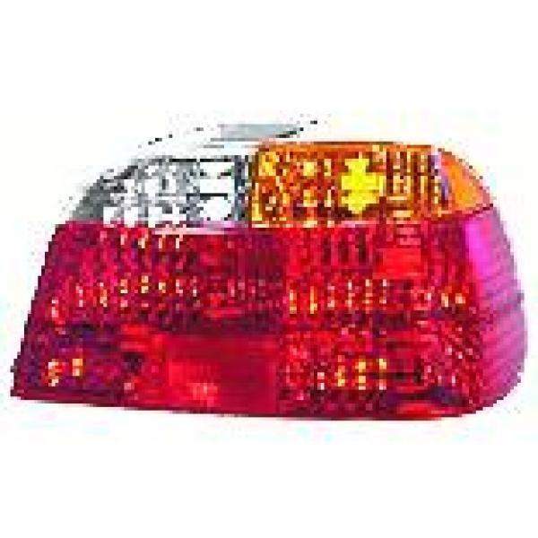 Achterlicht GLAS links BMW E38 98-01 ORANJE/WIT/ROOD Achterlicht
