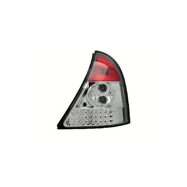 Achterlichten Renault Clio B 98-00 LED Chroom
