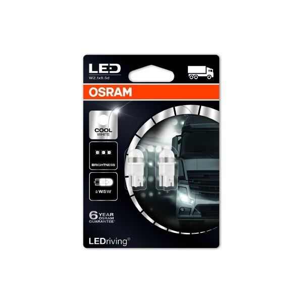 24v OSRAM LEDriving® T10 W5W Cool White 2824CW 1W