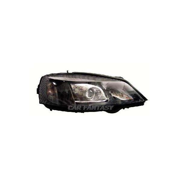Koplampen Opel Astra G zwart