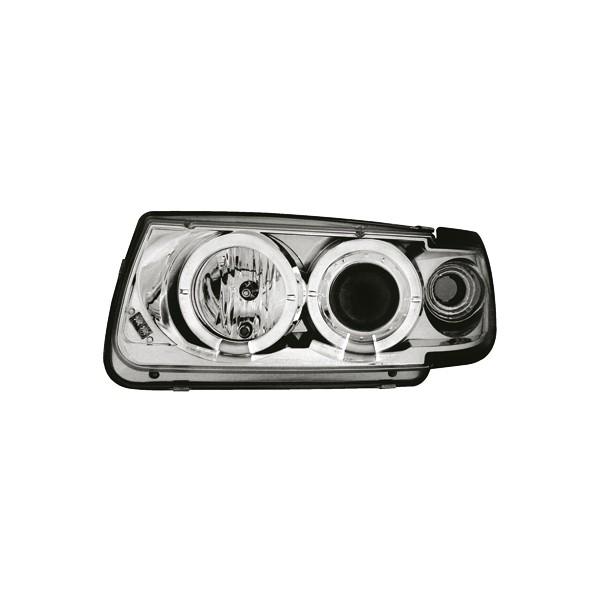Koplampen VW Polo 6N Angel Eyes chroom