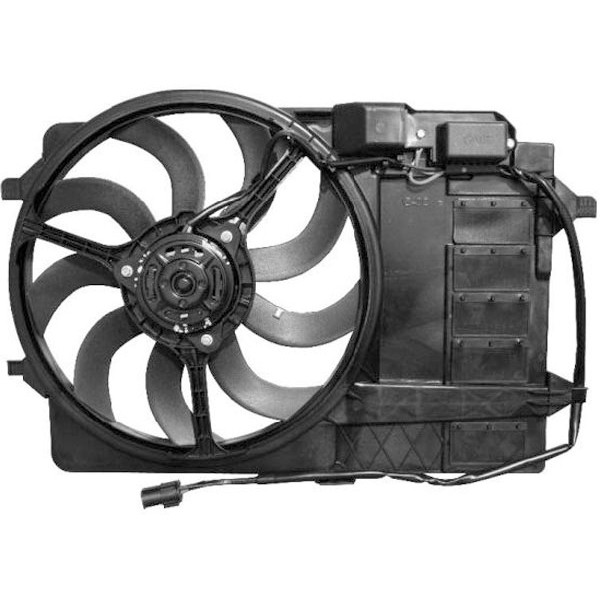 Radiator FAN MINI 03-06 ONE/COOPER/S voor AIRCO ALLEEN BENZ.