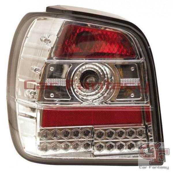 Achterlichten VW Polo 6N LED clear chroom