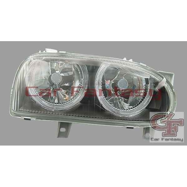 Koplampen VW Golf III Angel Eyes zwart