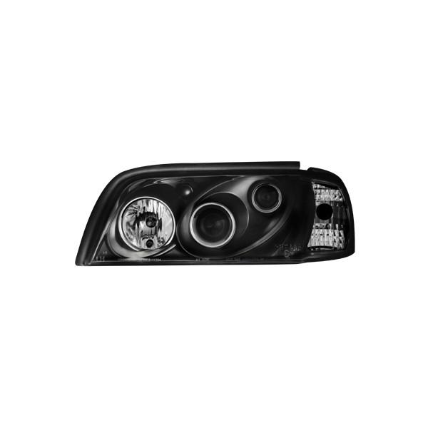 Koplampen Mercedes W202 xenon look zwart