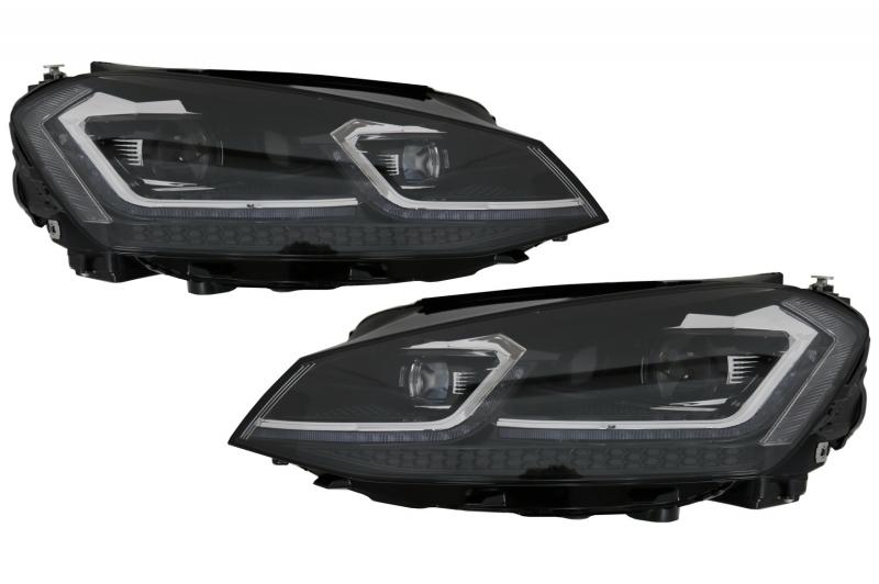 koplampen vw golf vii led dagrijverlichting 7 5 facelift look. Black Bedroom Furniture Sets. Home Design Ideas