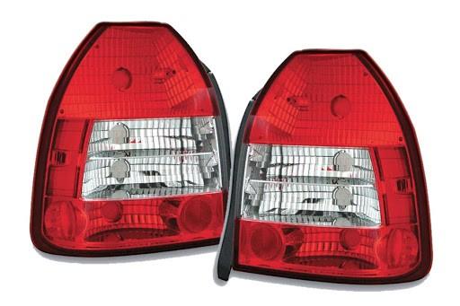 Achterlichten Honda Civic 96-01 3 deurs rood/wit