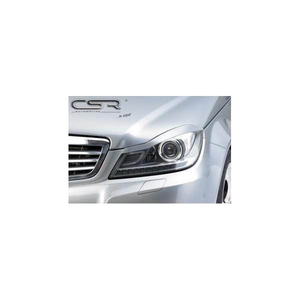 Koplampspoilers Mercedes C-Klasse W204 2011- ABS