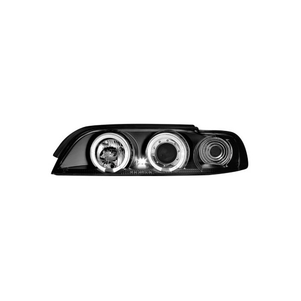 Koplampen BMW E39 Angel Eyes zwart