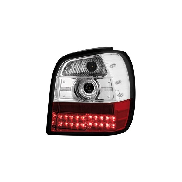 Achterlichten VW Polo 6N LED clear rood/wit