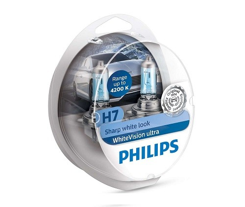 Philips H7 White Vision Ultra 12972WVUSM Duobox