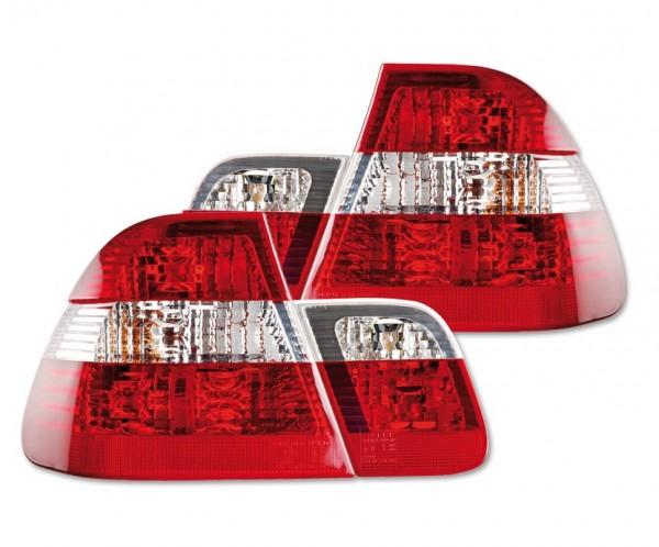 Achterlichten BMW E46 sedan 01-05 rood/wit