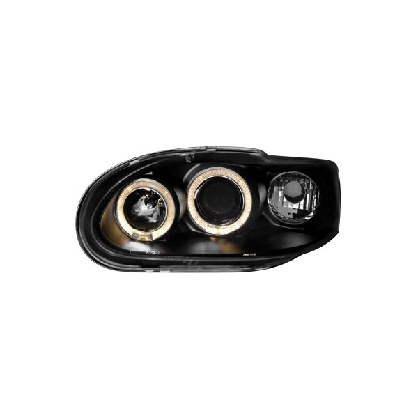 Koplampen Ford Escort MK6/7 Angel Eyes zwart