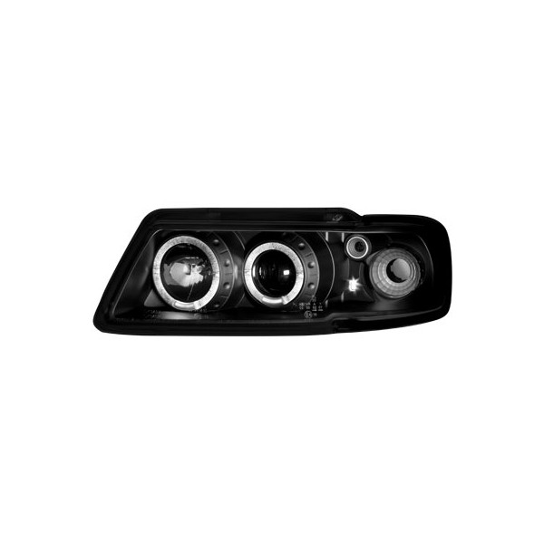 Koplampen Audi A3 8L Angel Eyes Zwart