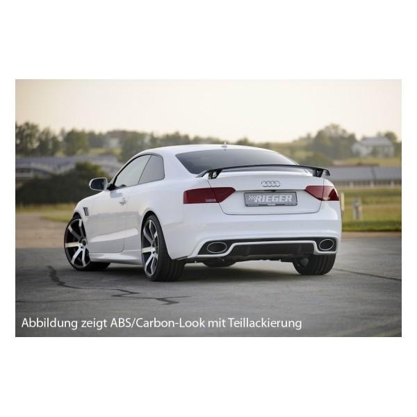 Achterbumperaanzet Audi A5 B8/B81 S-line Rieger Glanzend 11-