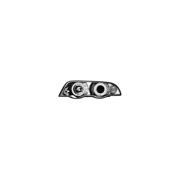 Koplampen BMW E46 sedan 98-01 Angel Eyes chroom