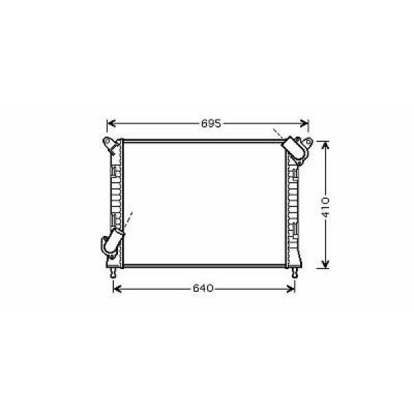 Radiator MINI COOPER S 01-06 577x397 1.6 120 kw +AC