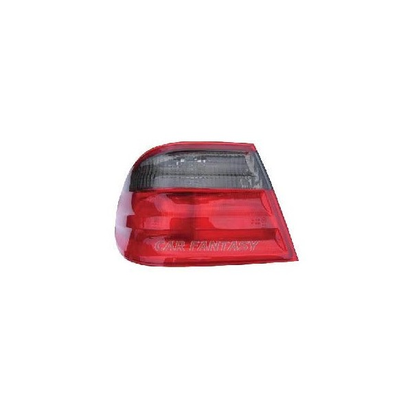 Achterlichten Mercedes E-Class W210 95-98 zwart/rood