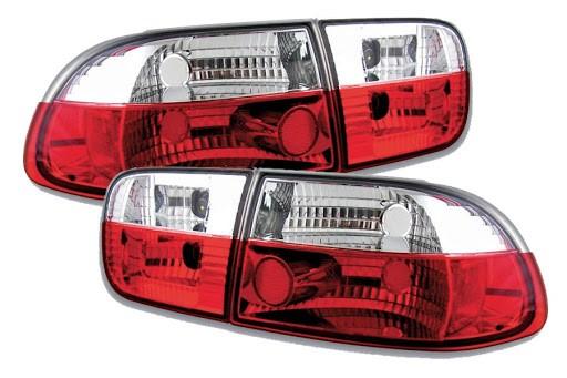 Achterlichten Honda Civic 92-95 3/5 deurs rood/wit