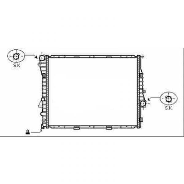 Radiator BMW X5 03->> 590x597x40 3.0 DI +/-AC