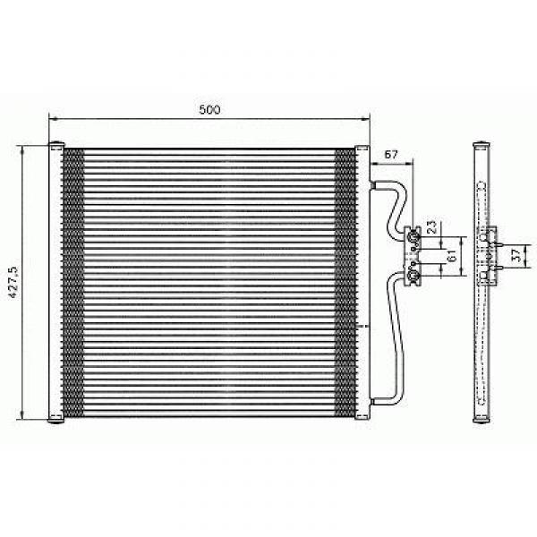 Condensator BMW E38 97-01 499x421 BENZINE